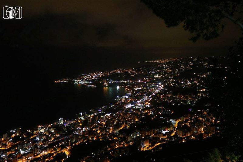 Lebanon  jounieh at  Night  Lights  electricity  livelovejounieh ... (Joünié)